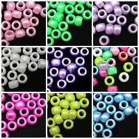 100 x 9mm Acrylic Pony Beads Craft Kids Jewellery Beads ** PICK COLOUR ** ML