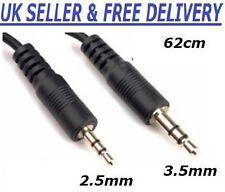 2.5mm Jack Mâle vers 3.5mm Jack Mâle A à A Câble Audio Câble Adaptateur