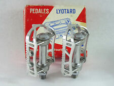 Lyotard Pedals 65 Dural French Alloy Vintage Racing Herse & Singer Bicycle NOS