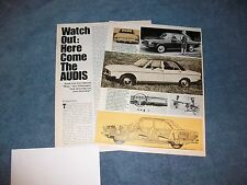 """1969 Audi 100 LS Super 90 Info History Article """"Watch Out: Here Come the Audis"""""""