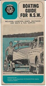 VINTAGE 1968 NRMA BOATING GUIDE FOR NSW BOOKLET BROCHURE
