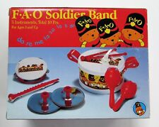 FAO Schwarz 5 Musical Instruments Soldier Band Kids NEW  RARE