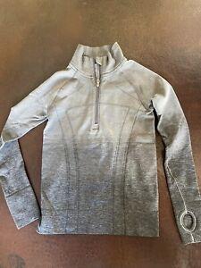 Ivivva Girls Quarter Zip Up Pullover Gray 10 EUC