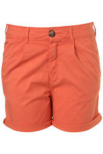 TOPSHOP chino shorts UK 16 in Coral - New with tags