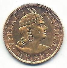 Peru 1/2 Waage Indianer 1965 Gold @@ sehr Bella @@