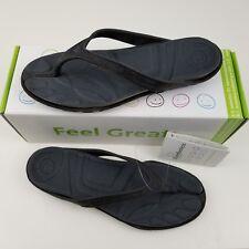 Barefooters Flip Flops Men's 6.5 Women's 8.5 Black Unisex Sandals Slip On NEW