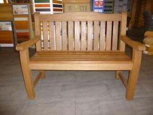 Gartenbank Holzbank Bank 2-Sitzer SIESTA aus Meranti-Holz RL3030 Hartholz-Bank