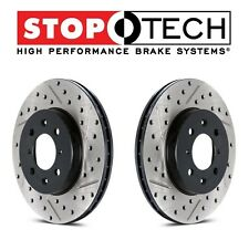 Eagle Plymouth Set of 2 Front L & R Drilled Slotted Disc Brake Rotors StopTech