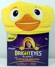 Snuggie Bright Eyes Duck Blanket Glow In The Dark Eyes Fleece Throw Robe NEW!