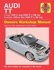Audi TT Haynes Manual Repair Manual Workshop Service Manual 1999-2006