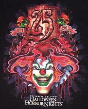 Universal Studios 1991-2015 HALLOWEEN HORROR NIGHTS 25 Black SHIRT 2X 25th Anniv