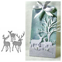 Metal Christmas Deer Cutting Dies New for Scrapbooking DIY Craft Card Making_ti