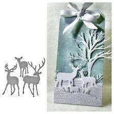 Metal Christmas Deer Cutting Dies New for Scrapbooking DIY Craft Card Making HF