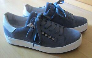 Nubuk- Sneaker, Schuhe Gabor, Gr. 38 Weite G, jeansblau, neuw. !!!