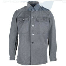 New Old Stock Surplus 60s Swiss Denim Herringbone Twill Shirt Jacket