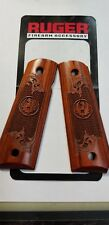 New Ruger SR1911 Cocobolo Engraved & Checkered 1911  Grips Free Shipping