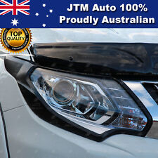 Matt Black Head Light Cover Protector Suits Mitsubishi Triton MQ 2015 2016 2017