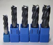 HRC45 12mm 14mm 16mm 18mm 20mm 4 flutes carbide end mills set CNC milling cutter
