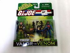 "NEW 2003 GI JOE Valor vs. Venom HARD DRIVE and BARONESS 3/4"" Action Figures Vvv"