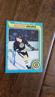 1979-80 OPC O-PEE-CHEE SIGNED AUTO CARD STAN JONATHAN BOSTON BRUINS PENGUINS 263