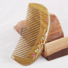 Wooden Sandalwood Handmade Fine Tooth Comb Beauty Massage Comb Hair Care  DP