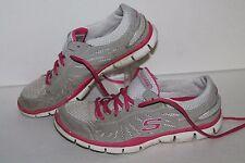 Skechers Pure Street Running Shoes, #22118, Grey/Pink/White, Women's US 7.5