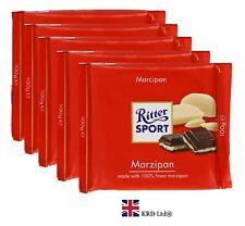 5x Genuine Ritter Sport MARZIPAN CHOCOLATE 100g Bars Pack of 5 Packs Box Gift UK