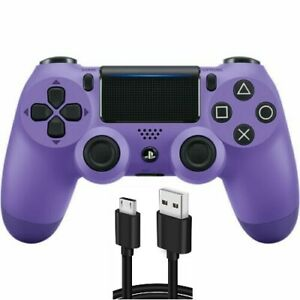 Electric Purple Wireless DualShock PS4 Controller for PlayStation 4 + USB