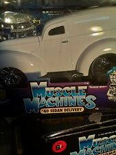 Muscle machines 40 Sedan Delivery White 1/18 scale