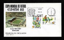 Mundial de Fútbol España 1982 Barcelona 1 En Sobre Primer Día