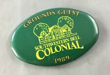Orig Colonial Invitation Fort Worth Golf Tournament Badge Pin Ground Guest 1989