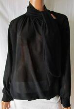 BLUSA MagliettA T-SHIRT TG.48 (Stimata) Elegante Colore Nero Cod.S