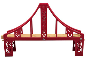 Thomas Friends Wooden Railway Red Suspension Bridge Brio Compatable Free Ship.