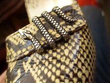 Vtg 60s RARE! FAUX RATTLESNAKE Andrew Geller Genuine Leather Pumps Size 9.5 AA