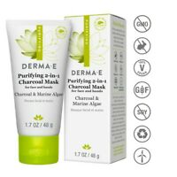 DERMA E - Purifying 2-in-1 Charcoal Mask Activated Charcoal - SHORT DATED 8/20