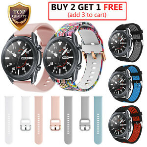 For Samsung Galaxy Watch 3 41mm 45mm Sport Soft Silicone Band Replacement Strap