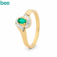 Emerald Yellow Band Fine Rings