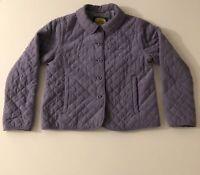 Cabela's Womens Quilted Button Coat Jacket Size M Reg Purple Faux Suede Soft