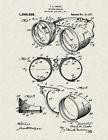 "1917 Welder Goggles by Frank A Ihrcke Vintage U.S. Patent  8.5"" x 11"" Art Print"
