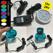 LED Base for Gracemate Poppy Air Freshener 12/24 Volt 7 Colours