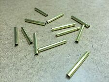 """12 Pcs Brass Tubing 1.25"""" Long, 5/32"""" OD, 1/8"""" ID, 1/64"""" Wall For Player Piano"""