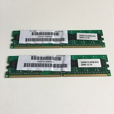2x DDR2 512mb ( 1024mb ) 1gb in total made of two sticks of 512mb SD RAM Memory
