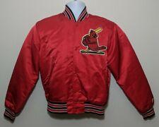 St Louis Cardinals Satin Snap Baseball Starter Jacket Coat Mens Small VTG Quilt