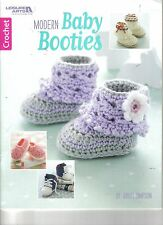 Modern Baby Booties  ~ Crochet Book ~ Leisure Arts  ~  NEW RELEASE