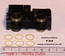 HORNBY DUBLO SPARES - TRACTION TYRES (6 OFF): CORRECT FLAT PROFILE