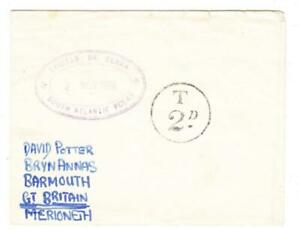 Tristan da Cunha CACHET TYPE X-SG#C12-2/NOV/1950-T 2D-POSTAGE DUE HANDST