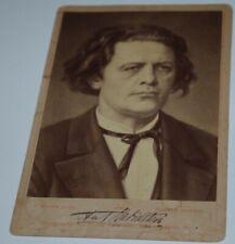 ANTON RUBINSTEIN  Original  PHOTO Autograph signed