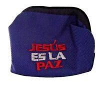 Monedero de lona impermeable Jesús es la paz