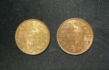 Two India 1/4 Anna Uncirculated Coins