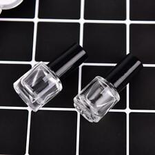 15ml Clear Glass Empty Nail Polish Bottle Container With A Lid Brush w